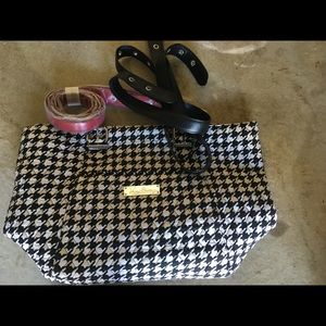 Vera Bradley houndstooth bag with 2 handles